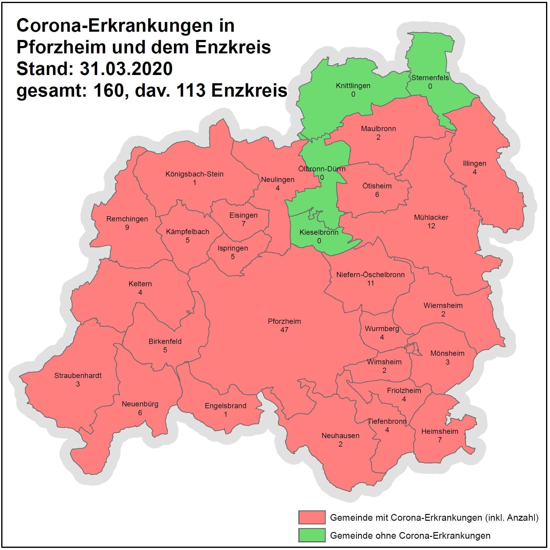 Corona Karte Enzkreis